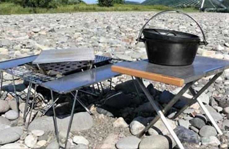 テーブル ユニフレーム 焚き火