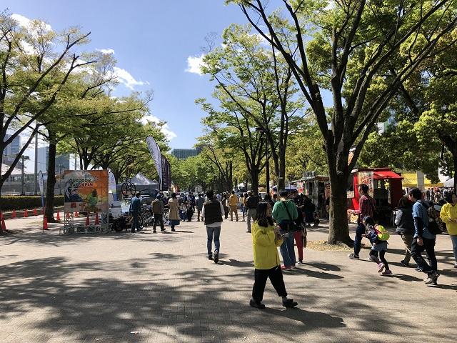 アウトドア・デイ・ジャパン2018東京の入り口風景