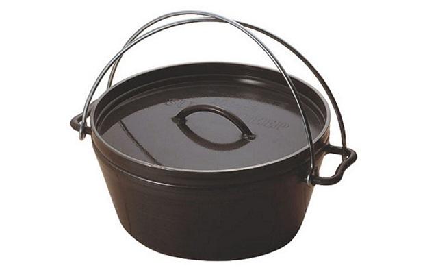 黒皮鉄板のユニフレーム ダッチオーブンスーパーディープ