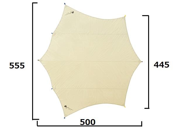 ロゴスBIGオクタゴンAGのサイズ図