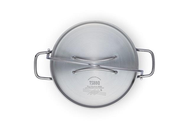 真上から見たTS BBQ ライトステンレスダッチオーブン10