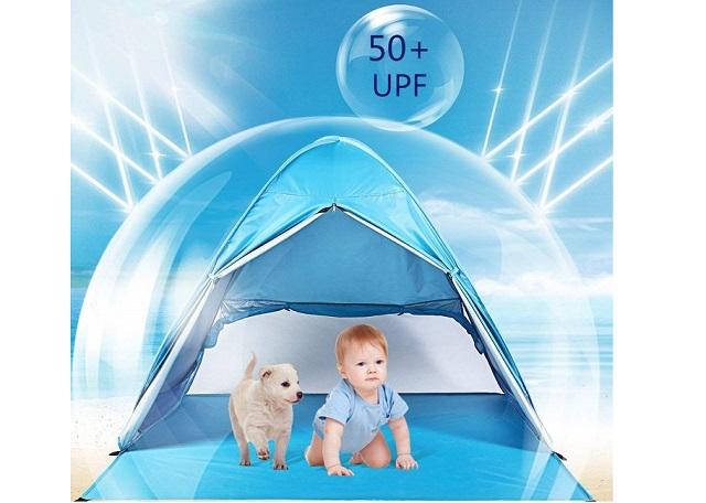 赤ちゃんを紫外線からまもるWilwolfer サンシェードテント