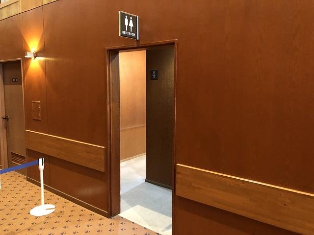 センターハウス内トイレ入口