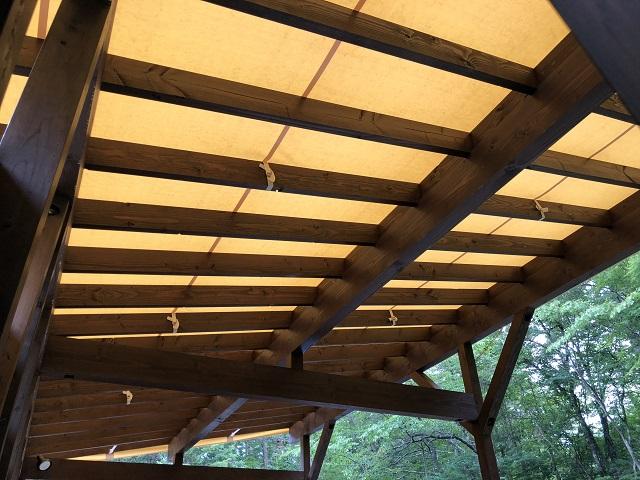 ウッドデッキの屋根