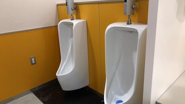 炊事棟奥のトイレ小便器