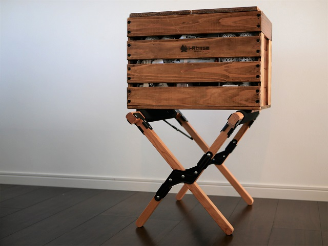 アイアールベースの木箱を置いてみる