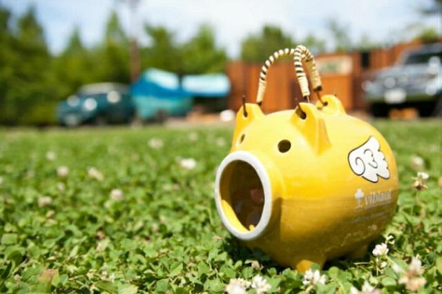草原に置くvibilant オリジナル蚊取り豚