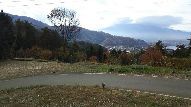 トレーラーハウスからの景色