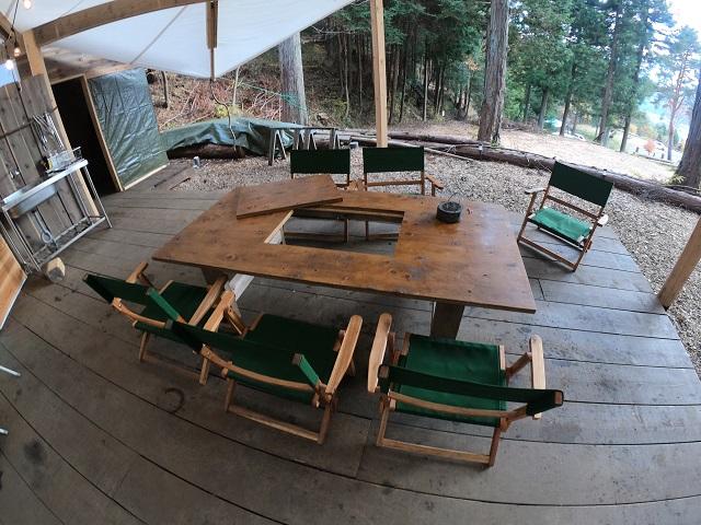 パオテントのテーブル