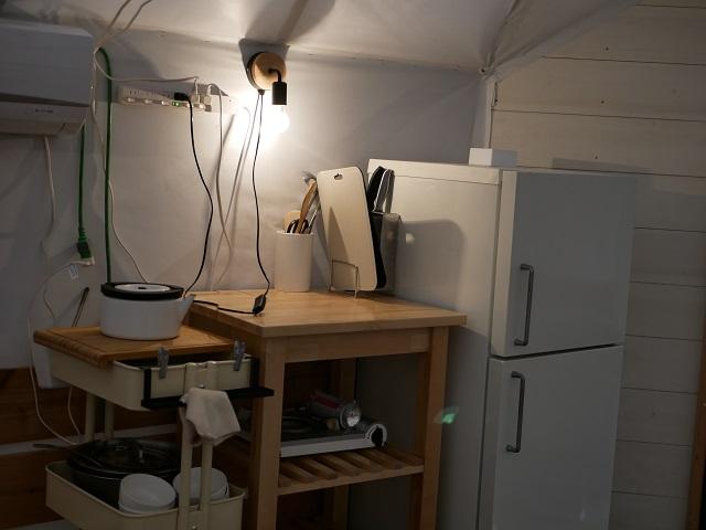 パオテント内の設備