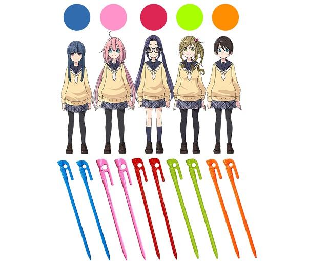 キャラクターの色のペグ