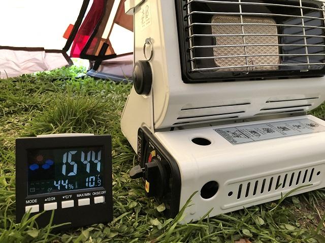 カセットガスストーブと気温