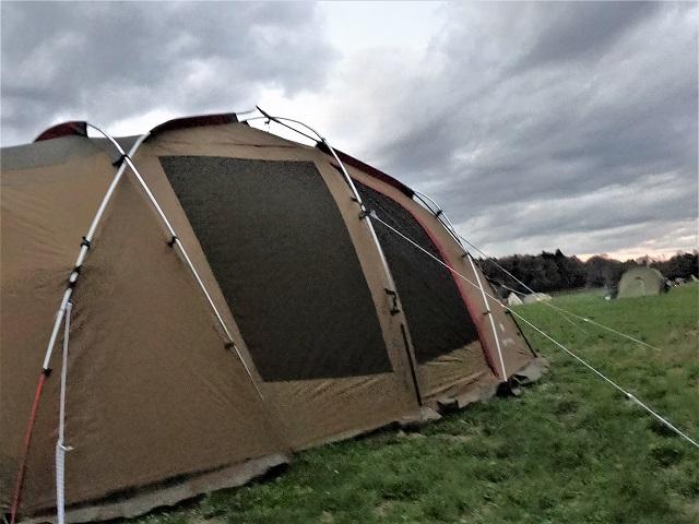 何とか設営したテント