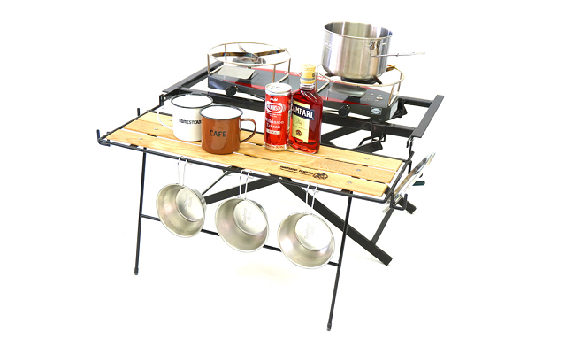 THE WIDE STAND for 2-burner & coolerbox