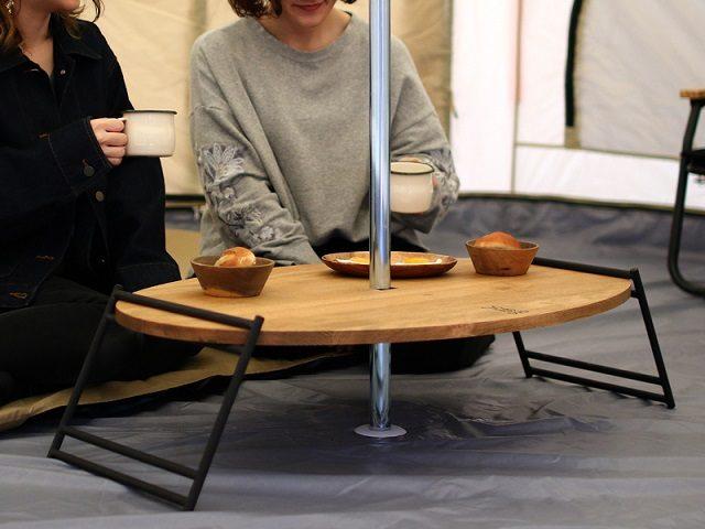 テキーラウッドプレートCでテーブル