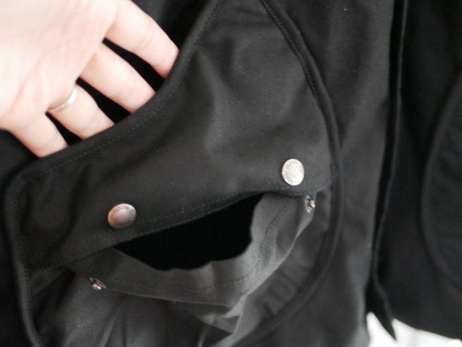 2重のドロップポケット