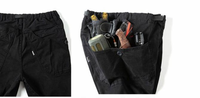 ポケットに荷物