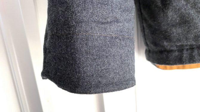 リバーシブルの袖