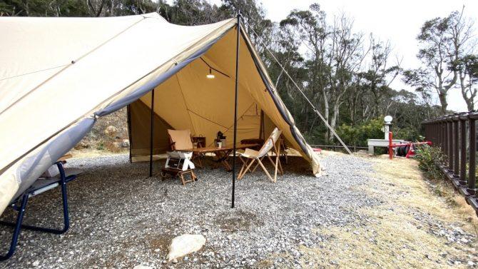 テントの前方スペース