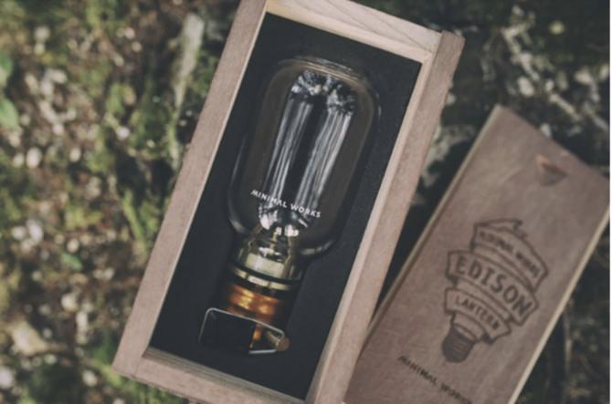 木箱エジソンランタン