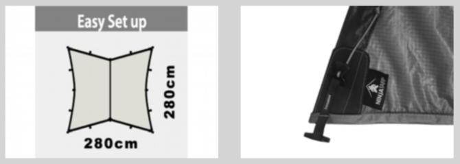ニンジャタープ手裏剣のデザイン