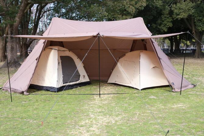 3人用テント2つ