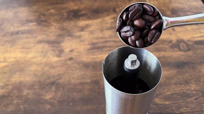 コーヒー豆投入