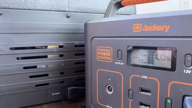 ポータブル電源に繋ぐ